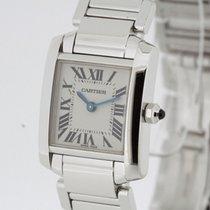 Cartier Tank Francaise 18K White Gold Retail $21000  W5001253