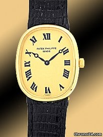 Patek Philippe Lady&amp;#39;s 18K Yellow Gold  Golden Ellipse Strapwatch