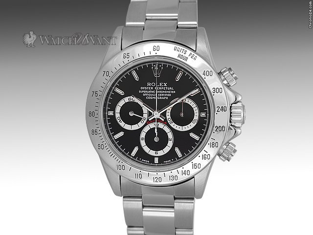 Rolex Daytona Cosmograph Chronograph - Ref 16520 U - 40mm Stainless Steel - Discontd Zenith El Primero Movement - Boxes/Papers 100% Complete