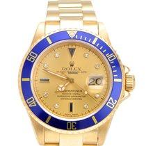 Rolex Submariner 18k Yellow Gold with Serti Diamond Dial