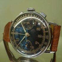 Angelus vintage chronograph cal 210 rare black dial