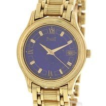 Piaget Ladies Piaget Polo 18K Yellow Gold Lapis Dial Watch