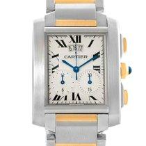 Cartier Tank Francaise Mens Two Tone Chrongraph Watch W51004q4