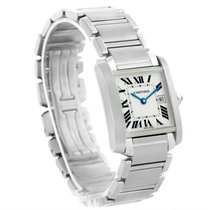 Cartier Tank Francaise Midsize Steel Quartz Women's Watch...