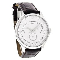 Tissot Tradition Mens Brown Leather Swiss Quartz Watch...