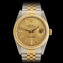 Rolex Datejust Stainless Steel & 18k Yellow Gold Unisex 16233