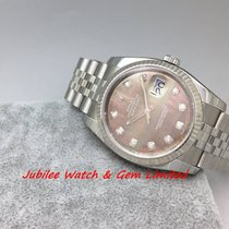 Rolex 116234NG Datejust MOP Dial G serial W Card Mint