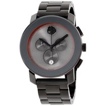 Movado Swiss Chronograph Bold Gray Ion-plated Steel Bracelet...