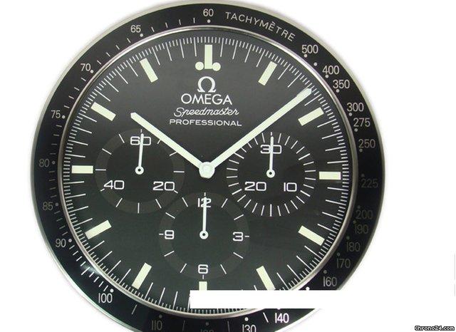 omega dealer display wallclock clock speedmaster