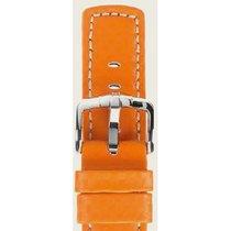 Hirsch Uhrenarmband Leder Carbon orange L 02592076-2-24 24mm