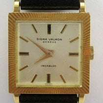 Sigma Valmon Incabloc Vintage 18K Solid Gold Swiss Wristwatch