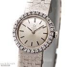 Omega Lady`s Size 22mm 14k White Gold Orginal Diamond S...