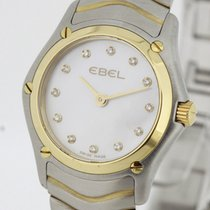 Ebel Classic Steel Gold Ladies Watch MoP Dial with Diamonds...