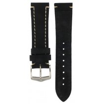 Hirsch Liberty Black Thick Calf Strap 22mm