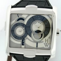 Harry Winston [NEW] Avenue Squared A² automatic 18K white gold...