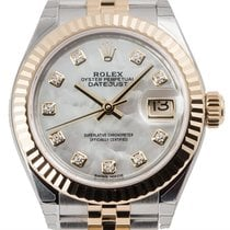 Rolex Lady-Datejust 28 Steel and Yellow Gold Mother of...