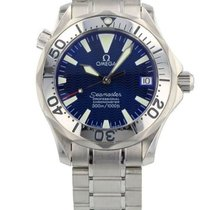 Omega Seamaster Mid-Size Steel Automatic Watch 36mm Blue Wave...