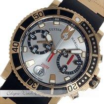 Ulysse Nardin Maxi Marine Diver Chronograph Rosegold 8006-102-...