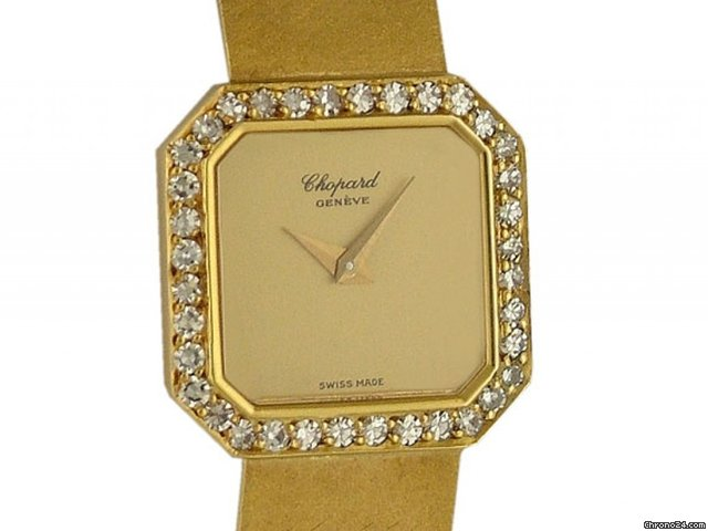 Chopard Classique 18kt Gelbgold Diamond Handaufzug Vintage 19x19mm