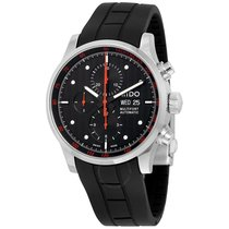 Mido Multifort Chronograph Automatic Black Dial Black Rubber...