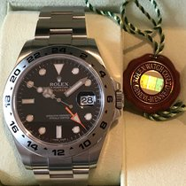 Rolex Explorer II Stainless Steel and Black Dial 216570 NEW