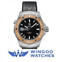 TAG Heuer AQUARACER 500m AUTOMATIC Caliber 5 - Steel and Gold...