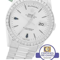 Rolex Day-Date President 36mm Sapphire Diamond  18K White Gold