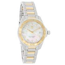 TAG Heuer Aquaracer 18K Diamond Ladies MOP Quartz Watch...