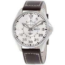 Hamilton Men's H64611555 Khaki Pilot Silver Day Date Dial...