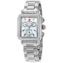 Michele Deco Day Mother of Pearl Stainless Steel Ladies Watch