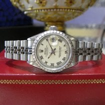 Rolex Oyster Perpetual Datejust Stainless Steel Roman Numeral...