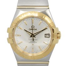 Omega Constellation 18k Gold Steel White Automatic 123.20.35.2...