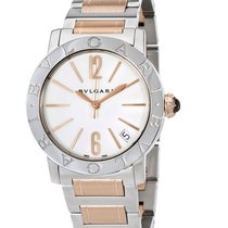 Bulgari Bvlgari Rose Gold and Steel White Lacquered Dial