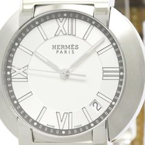 Hermès Polished Hermes Nomade Stainless Steel Auto Quartz Mens...