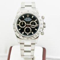 Rolex Daytona Watch 116520 Bezel Engraved Black Face