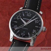 Montblanc Time Walker Gmt Herrenuhr Edelstahl Automatik 7081