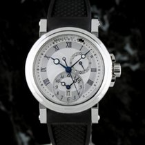 Breguet Marine Dual Time SS on Strap
