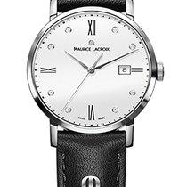 Maurice Lacroix Eliros Date Ladies White Dial, Diamonds, Black...