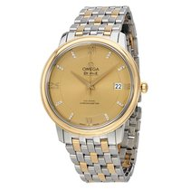 Omega De Ville Prestige Champagne Dial Stainless Steel and...