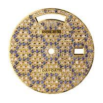 Rolex Day-Date 40 Gold/ Blue and White Precious Stones Custom...