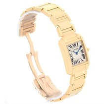 Cartier Tank Francaise Small 18k Yellow Gold Ladies Watch...