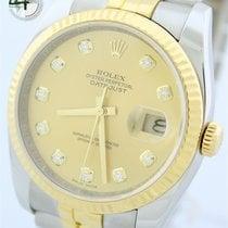 Rolex Datejust Stahl/Gold Diamantenblatt Ref.:116233 von 2010...