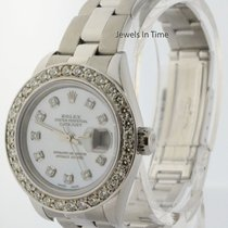 Rolex Datejust Steel & 18k Gold Diamond Bezel & MOP...