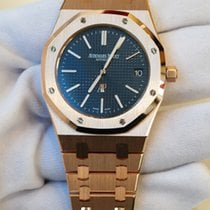 Audemars Piguet Royal Oak Extra-thin 39mm blue dial in full...