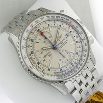 Breitling Navitimer World Chrono 46mm a2432212 Silver Dial...