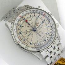 Breitling Navitimer World Chrono 46mm a2432212 Silver Dial...