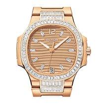 Patek Philippe Nautilus lady rose gold baguette diamonds