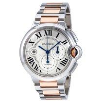 Cartier Ballon Bleu Silvered Guilloche Dial Mens Watch W6920075