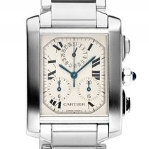 Cartier Tank Francaise Stahl Quarz Chronograph Armband Stahl...