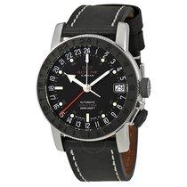 Glycine Airman 17 GMT Automatic Black Dial Men's Watch
